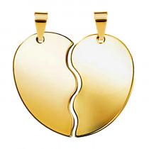 Жетон «Половинки Сердце», золото
