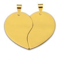 Жетон «Половинки Сердце» средний, золото