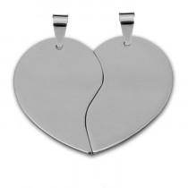 Жетон «Половинки Сердце» средние, серебро
