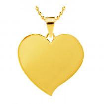 Жетон «Сердце» с косым углом, золото
