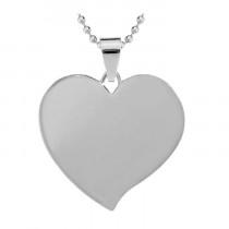 Жетон «Сердце» с косым углом, серебро
