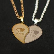 Жетон сердце половинки золото + серебро