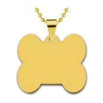 Адресник «Кость» большой, золото