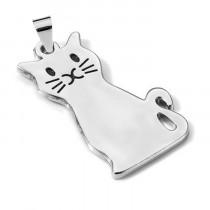 Адресник «Кошка», серебро