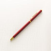 Ручка с гравировкой, бордовая