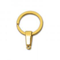 Кольцо-карабин с цепочкой 45x30 мм, золото