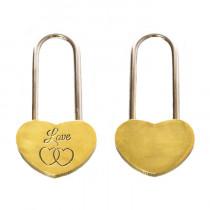 Замок под гравировку «Love», золото