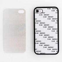 2D-чехол для сублимации на iPhone 4/4S силиконовый, чёрный