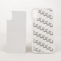 2D-чехол для сублимации на iPhone X силиконовый, белый
