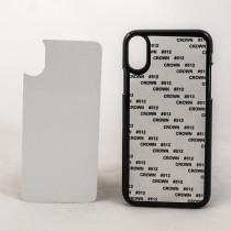 2D-чехол для сублимации на iPhone X, чёрный
