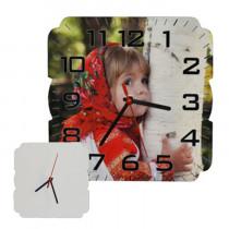 Часы МДФ квадратные, 20x20 см
