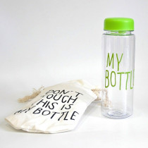 Бутылка для воды «MyBottle» с мешочком, 500 мл, салатовая прозрачная