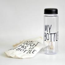 Бутылка для воды «MyBottle» с мешочком, 500 мл, чёрная прозрачная