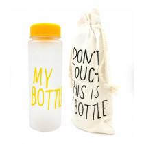 Бутылка для воды «MyBottle» с мешочком, 500 мл, жёлтая матовая