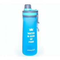 Спортивная бутылка «Water is king of food», 1000 мл, голубая