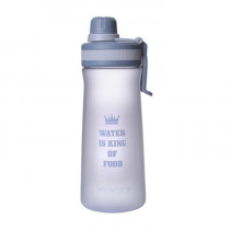 Спортивная бутылка «Water is king of food», 1000 мл, серая