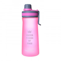 Спортивная бутылка «Water is king of food», 1000 мл, розовая
