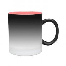 Кружка-хамелеон с розовой заливкой