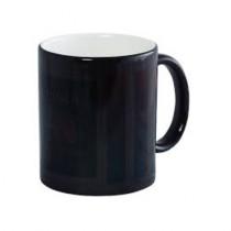 Кружка-хамелеон черная глянцевая