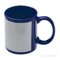 Кружка синяя с белым полем