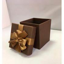 Подарочная коробка 047 К коричневая