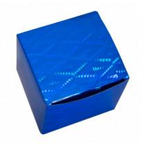 Подарочная коробка для кружки голографическая, синяя
