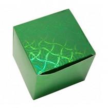 Подарочная коробка для кружки голографическая, зелёная