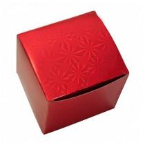 Подарочная коробка для кружки голографическая, красная