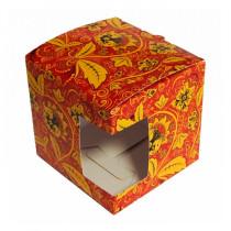 Подарочная коробка для кружки «Хохлома»