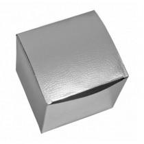 Подарочная коробка для кружки голографическая, серебряная