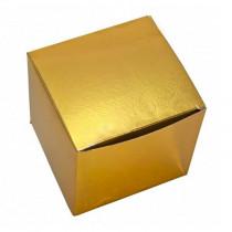 Подарочная коробка для кружки голографическая, золотая