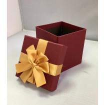 Подарочная коробка 047 К бордовая