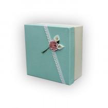 Подарочная коробка салатовая малая
