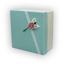 Подарочная коробка салатовая средняя