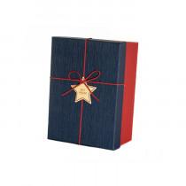 Подарочная коробка со звездой, сине-красная, малая
