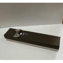 Ювелирная коробка под браслет, цепочку, часы, с бантом, цвет коричневый.