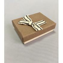 Ювелирная коробка 026 Ж светло-коричневая