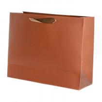 Подарочный пакет горизонтальный «Классика», коричневый