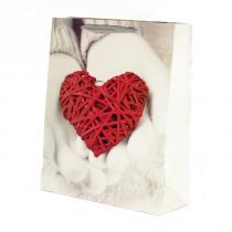 Подарочный пакет вертикальный «Сердце», №6