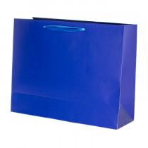 Подарочный пакет горизонтальный «Классика», синий