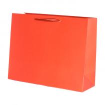 Подарочный пакет горизонтальный «Классика», красный