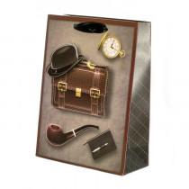 Подарочный пакет вертикальный 3D «Мужской», №2