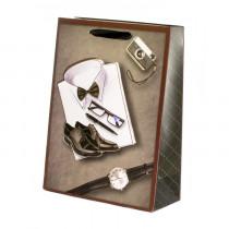 Подарочный пакет вертикальный 3D «Мужской», №1