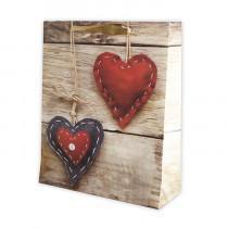 Подарочный пакет вертикальный «Сердце», №7