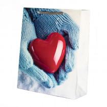 Подарочный пакет вертикальный «Сердце», №5