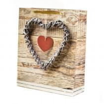 Подарочный пакет вертикальный «Сердце», №4