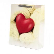 Подарочный пакет вертикальный «Сердце», №3