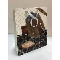 Подарочный пакет вертикальный, мужской (в ассортименте большой)