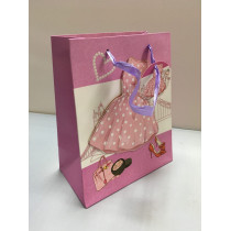 Подарочный пакет вертикальный, женский (в ассортименте маленький)