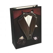 Подарочный пакет вертикальный 3D «Мужской»